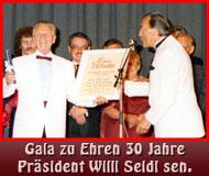 30 Jahre Präsidentschaft von Willi Seidl sen.