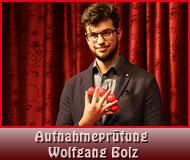 Aufnahmeprüfung Wolfgang Bolz