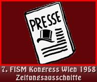 7. FISM Kongress Wien 1958 Zeitungsausschnitte
